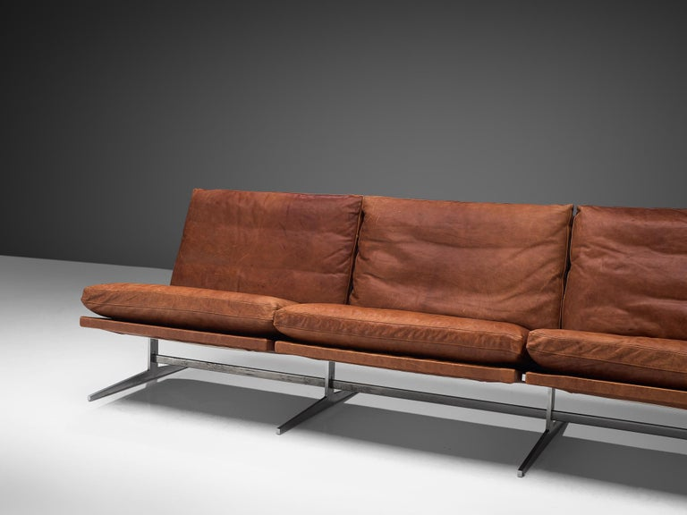 Fabricius & Kastholm Large BO561 Sofa in Cognac Leather For Sale 1
