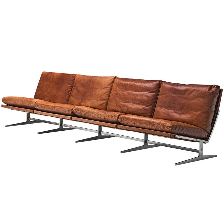 Fabricius & Kastholm Large BO561 Sofa in Cognac Leather For Sale