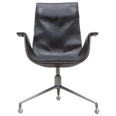 Fabricius/Kastholm Leather Swivel Chair