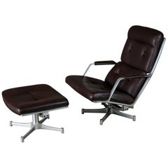 Fabricius & Kastholm Lounge Chair with Ottoman