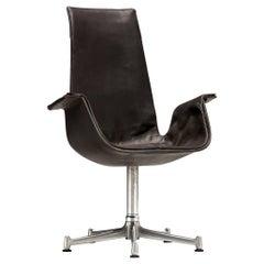Fabricius & Kastholm Pair of Swivel Chairs Model 'FK 6725' in Black Leather