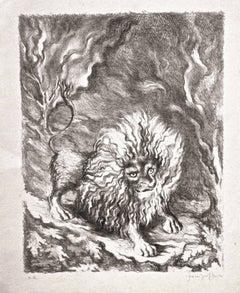 Leone - Original Lithograph by Fabrizio Clerici - 1941