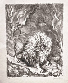 Lion - Original Lithograph by Fabrizio Clerici