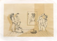 Museum - Original Lithograph by Fabrizio Clerici