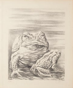 The Frogs - Original Lithograph by Fabrizio Clerici - 1940 ca