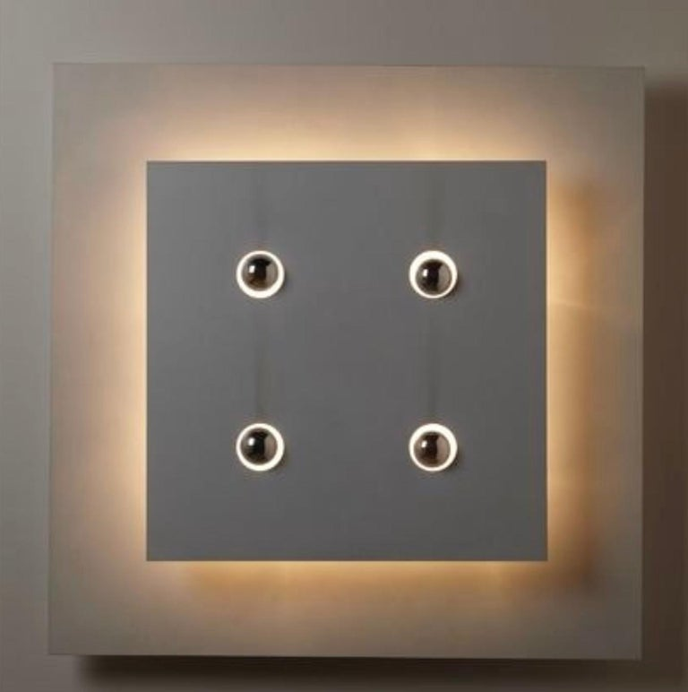 Enameled Fabrizio Cocchia & Gianfranco Fini Screen Wall Light, New Lamp Co., Italy, 1970
