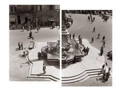 Mezzogiorno al Pantheon, Rome, 1958 - Contemporary Black & White photography