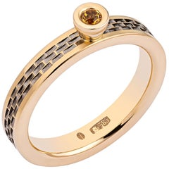 Fabulous 14 Karat Gold Ring with Citrine