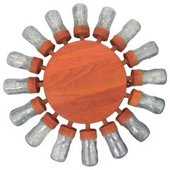 Fabulous 16 Glass Vintage Rotating Danish Spice Wheel from Digsmed, 1964