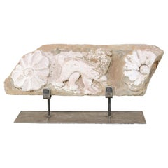 A Fabulous 18th Century Spanish Carved-Stone Fragment on Custom Stand