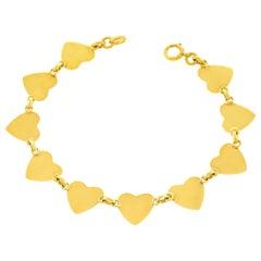 Fabulous 1950s Gold Heart Bracelet