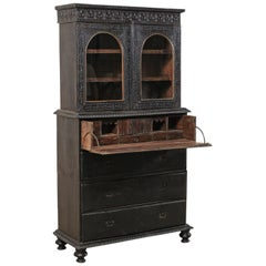 Fabulous Antique British Colonial Butler's Desk 'With Secret Compartments'