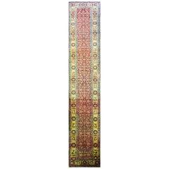 Antique Persian Bijar Runner Gallery Carpet