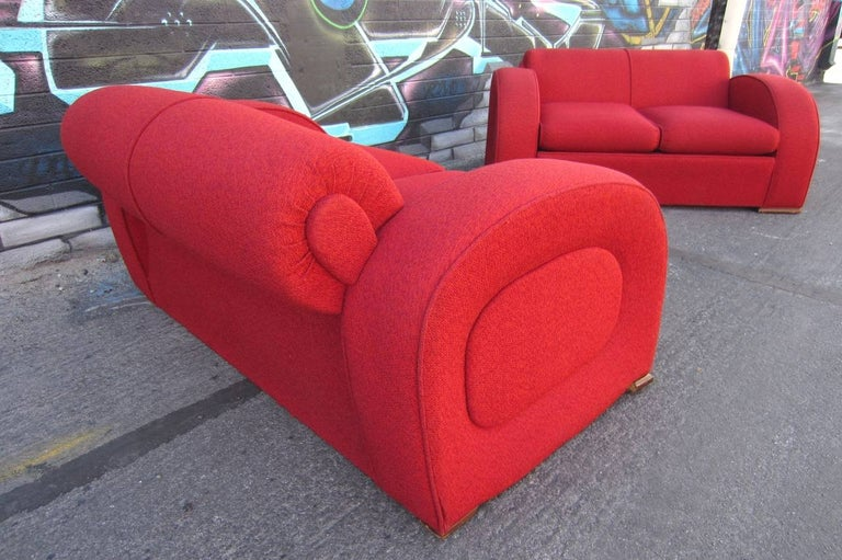 Outstanding 1940s Art Deco settee sofa.