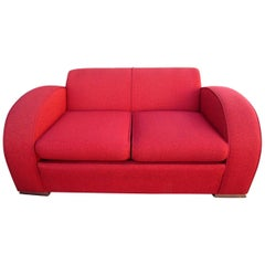 Fabulous Art Deco Club Settee Sofa