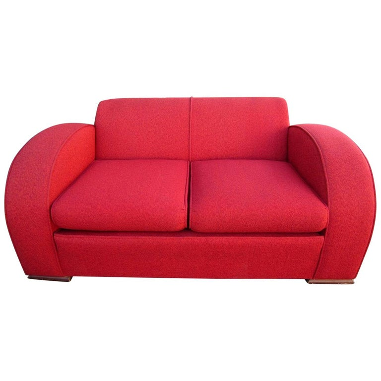 Fabulous Art Deco Club Settee Sofa For Sale