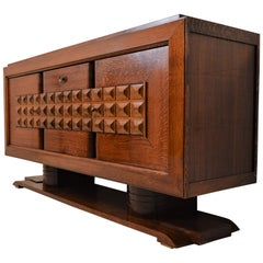 Fabulous Art Deco Sideboard in Oak by Charles Dudouyt