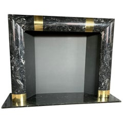 Fabulous Brass Marble and Composite Fireplace Surround