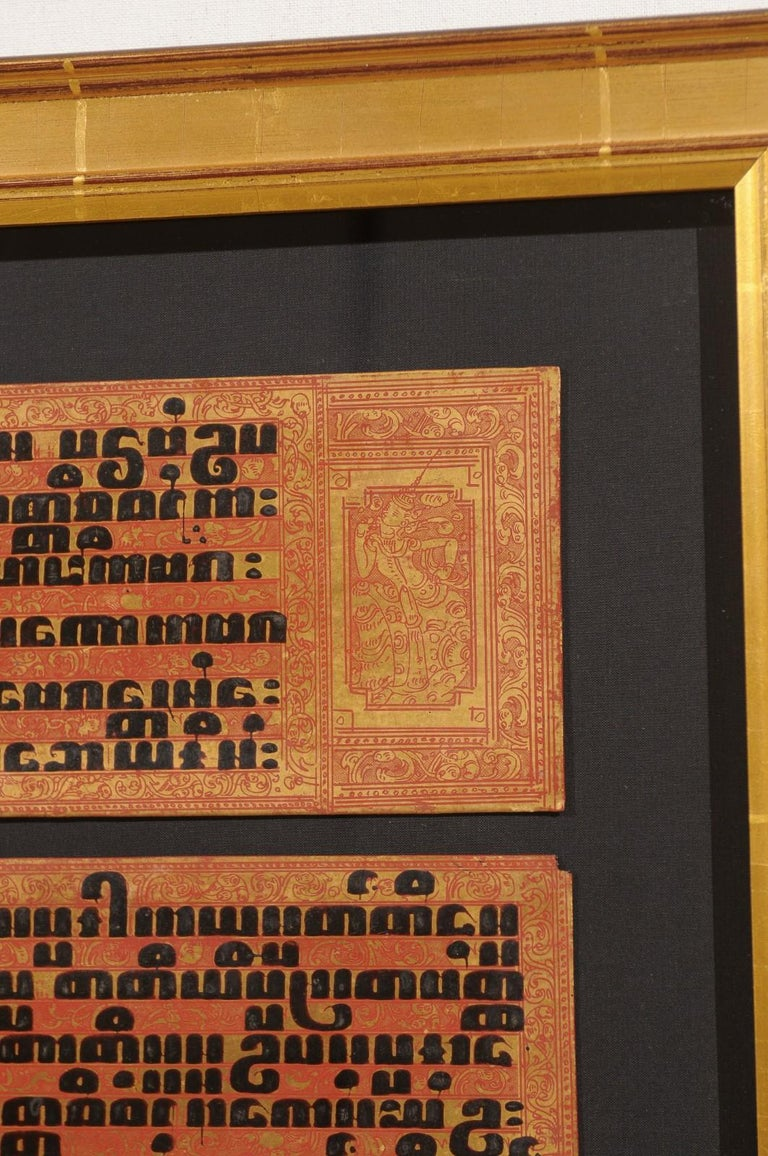 Fabulous Collection of 19th Century Framed Buddhist Manuscripts For Sale 4