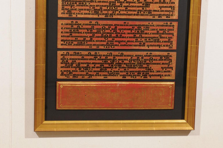 Fabulous Collection of 19th Century Framed Buddhist Manuscripts In Good Condition For Sale In Atlanta, GA