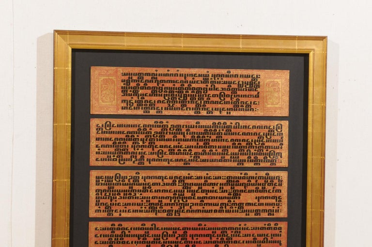 Fabulous Collection of 19th Century Framed Buddhist Manuscripts For Sale 1