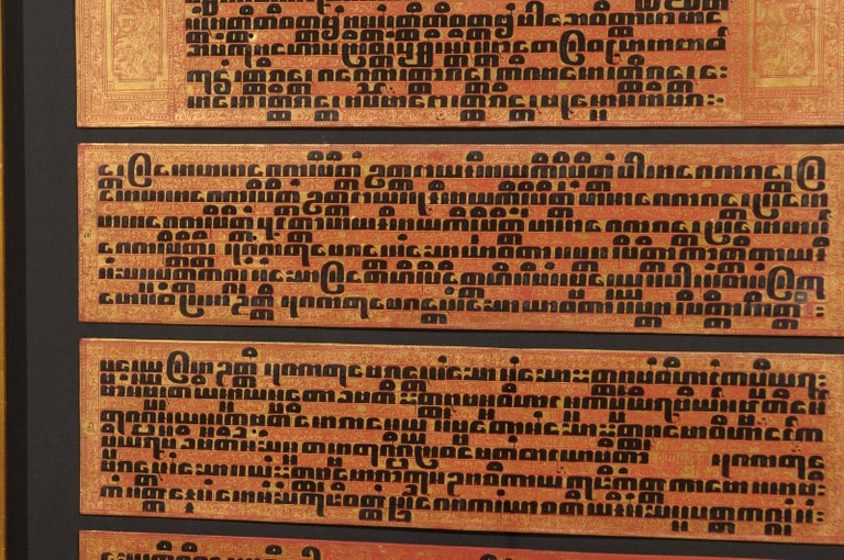 Fabulous Collection of 19th Century Framed Buddhist Manuscripts For Sale 2