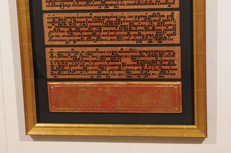 Fabulous Collection of 19th Century Framed Buddhist Manuscripts For Sale 3