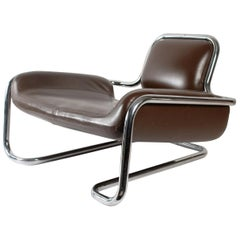Iconic Futurist Limande Armchair by Kwok Hoï Chan for Steiner, 1968, France