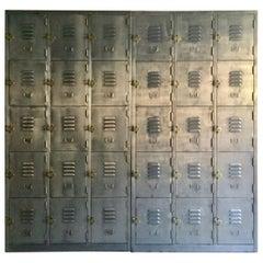Fabulous Industrial Metal Lockers Thirty Cabinets Loft Style Brushed Steel