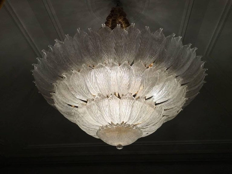 Fabulous Italian Murano Glass Ceiling Light or Flush Mount In Excellent Condition For Sale In Rome, IT