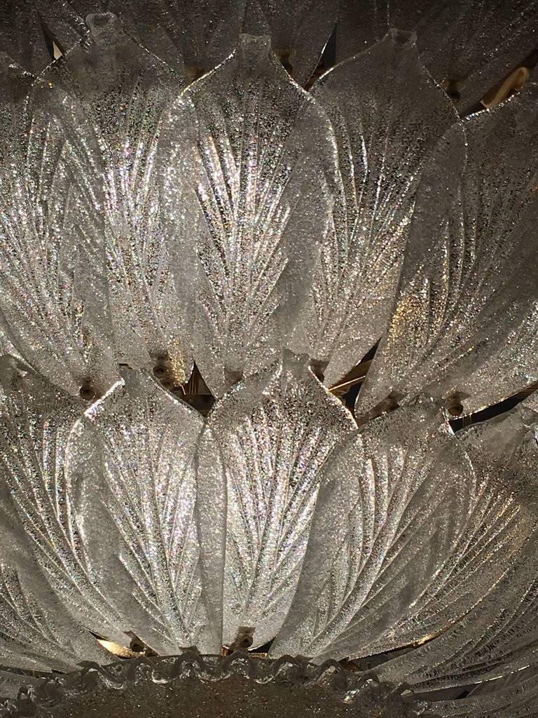 Contemporary  Fabulous Italian Murano Glass Ceiling Light or Flush Mount For Sale