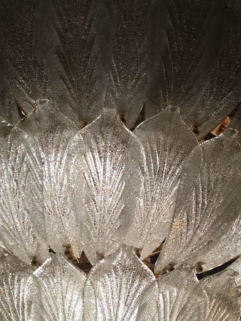 Blown Glass  Fabulous Italian Murano Glass Ceiling Light or Flush Mount For Sale