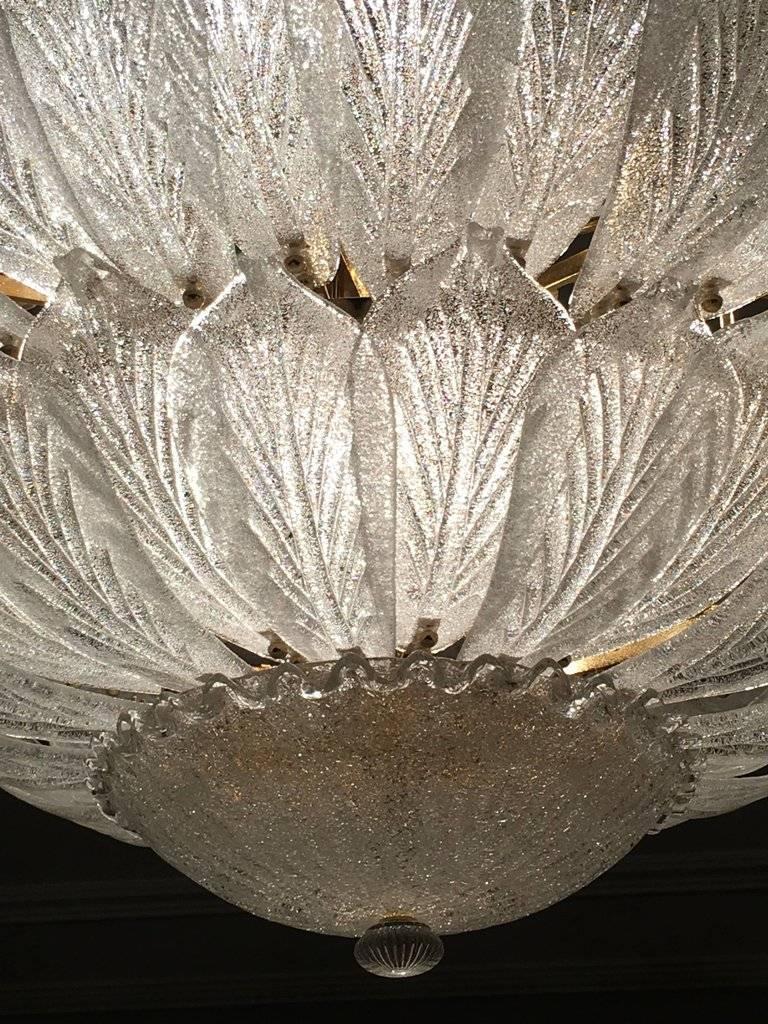 Fabulous Italian Murano Glass Ceiling Light or Flush Mount For Sale 1