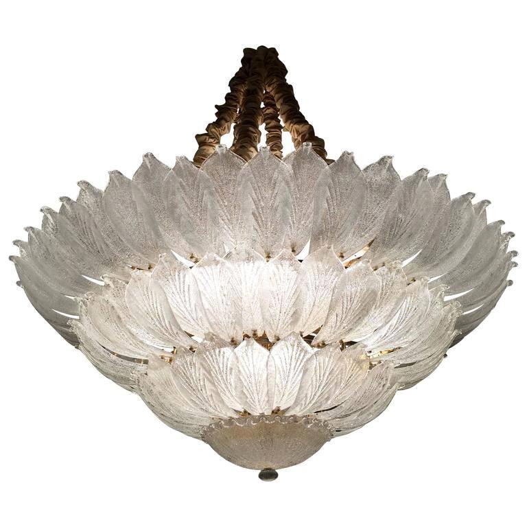 Fabulous Italian Murano Glass Ceiling Light or Flush Mount For Sale