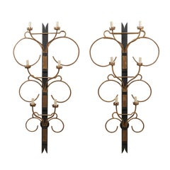 Fabulous Large Scale French Art Deco Sconces from the Mid-20th Century