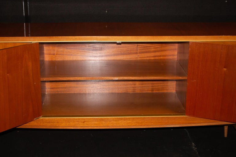 Mid-20th Century Fabulous Large Sideboard Attributed to Roger Landault, France, Probably Ashtree For Sale