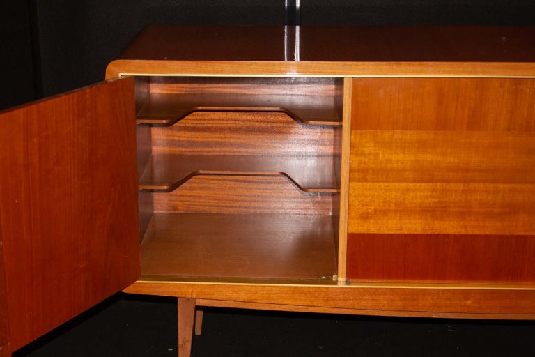 Fruitwood Fabulous Large Sideboard Attributed to Roger Landault, France, Probably Ashtree For Sale