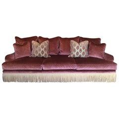 Fabulous Lavish Pink Velvet Sofa