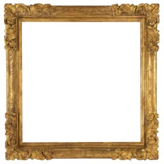 Fabulous Louis XIV Period Frame, Mirror with Flower Corners, France 18th Century