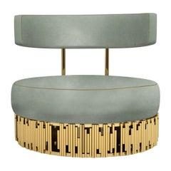 "Fabulous Luxury Contemporary ""Vegas"" Velvet Upholstered Club Chair or Armchair"