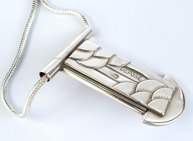 Fabulous Modernist French Statement Pendant Necklace In Good Condition For Sale In Westward ho, GB