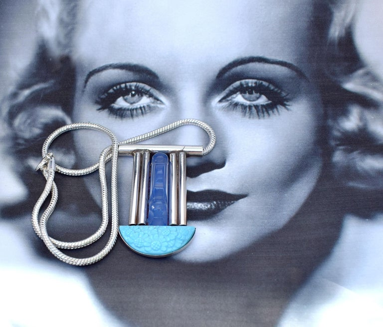 Fabulous Modernist French Statement Pendant Necklace For Sale 1