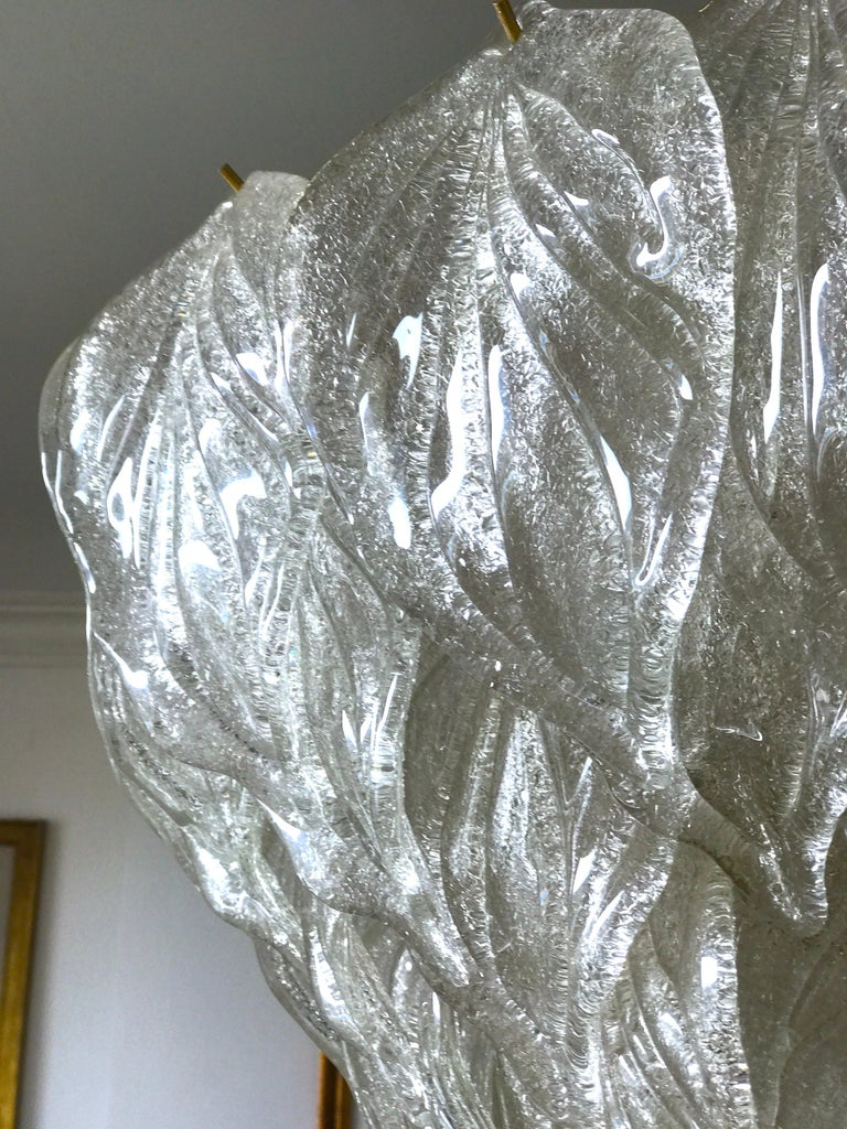 Fabulous Murano Glass Polar Chandelier, 1970s In Excellent Condition In Rome, IT
