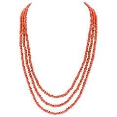 Fabulous Opera Length Coral Necklace