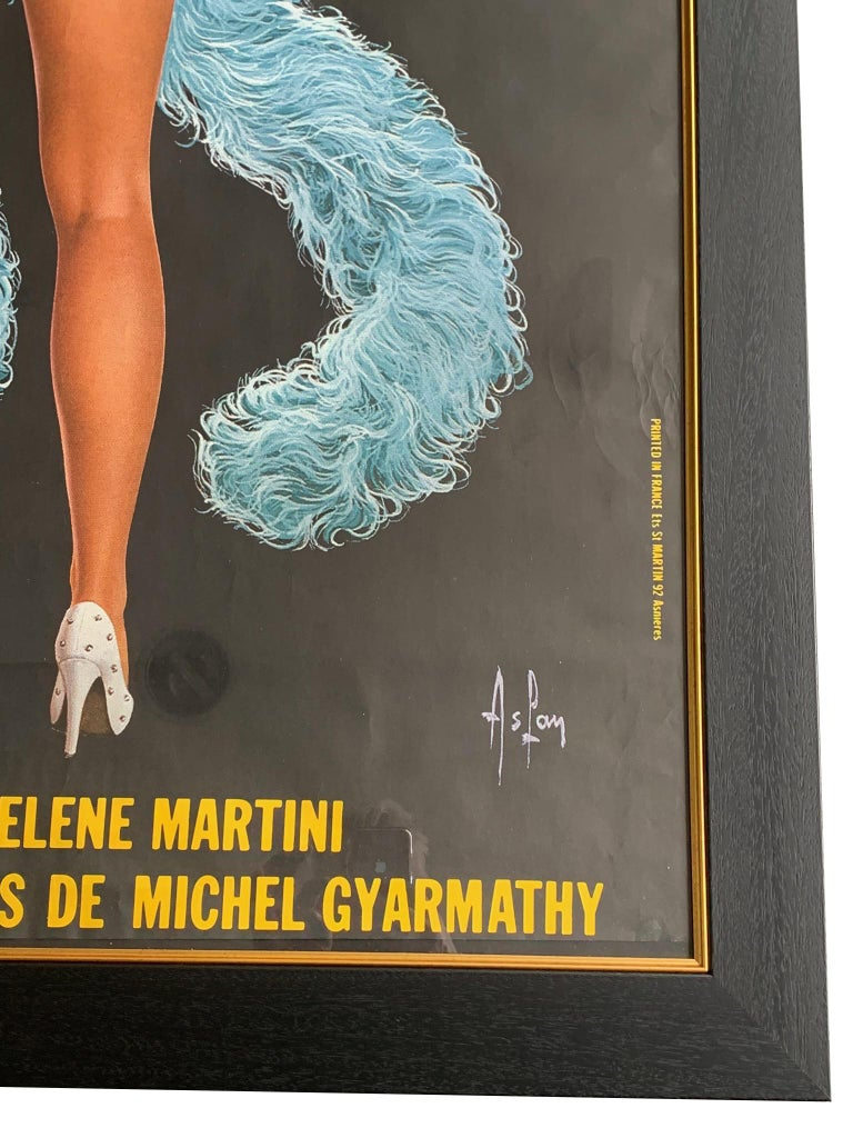 Fabulous Original 1960s Large Folies Bergere Poster by Artist Alain Gourdon For Sale 2