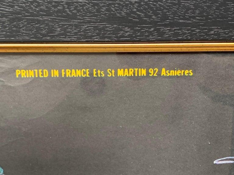Fabulous Original 1960s Large Folies Bergere Poster by Artist Alain Gourdon For Sale 3