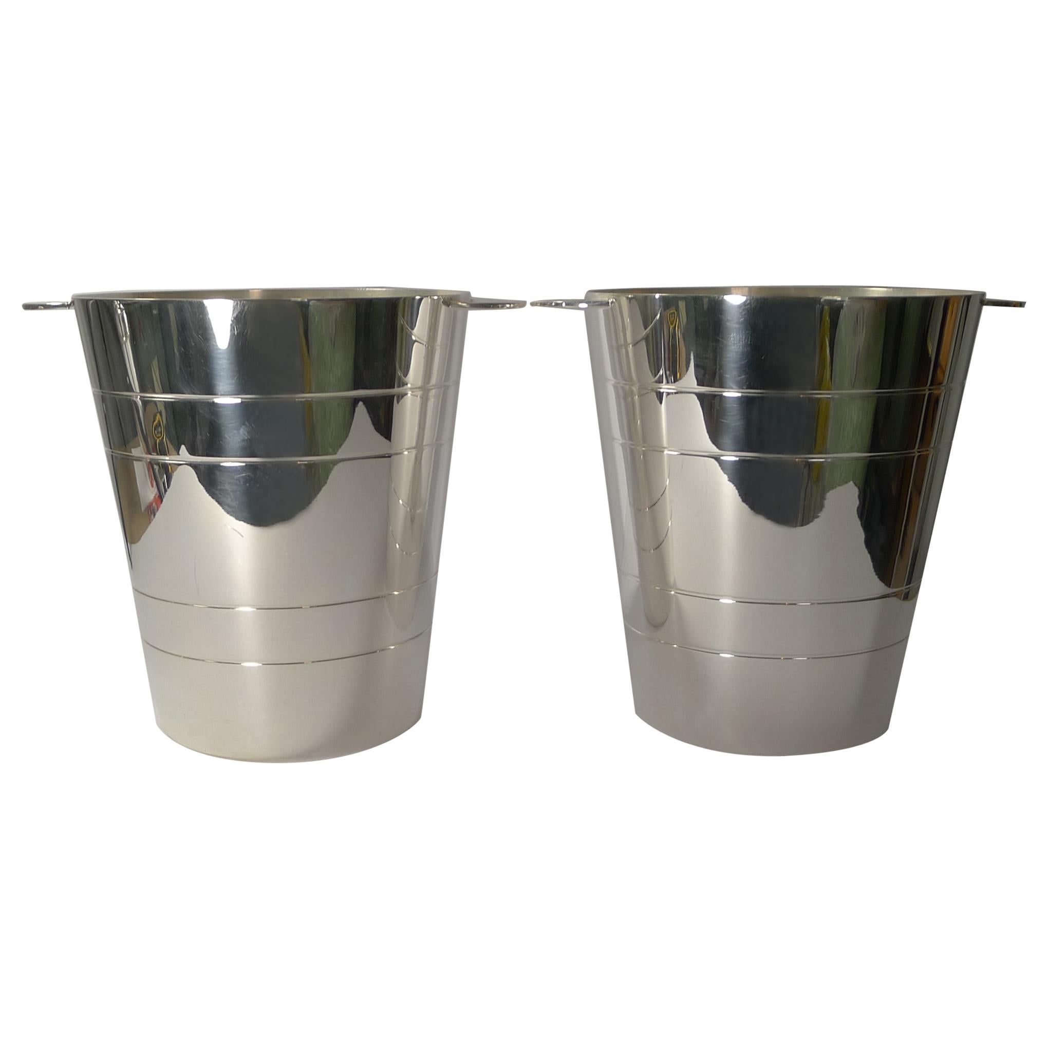 Fabulous Pair of Elkington Silver Plated Wine Coolers / Champagne Buckets