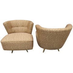 Fabulous Pair of Kroehler, 1950s Swivel Lounge Chairs Mid-Century Modern