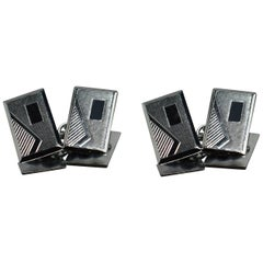 Fabulous Pair of Matching Art Deco Men's Cufflinks