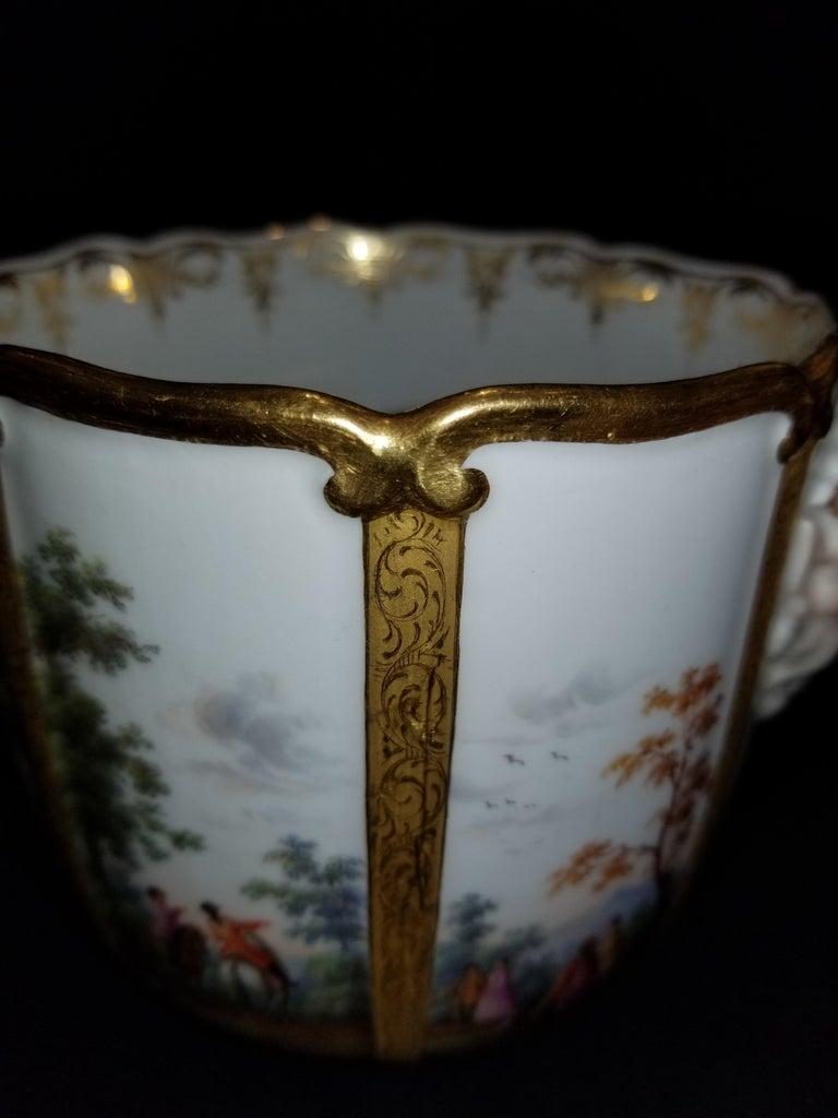 Fabulous Pair of Meissen Porcelain Glass Coolers/Cachepots For Sale 4